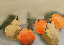 FOR THE BEACH FOUR Expression Still Life Art Fruit Oil Painting 5x7 053019 KEN