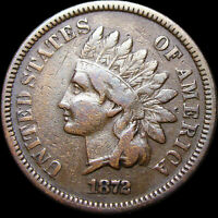 1872 Indian Cent Penny  ----  Rare Date   ---- #K448