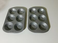 2 Farberware Onstick Mini Muffin / Tart Pans - 6 Mini Cups Each
