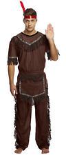 Adult Indian Man Costume - Fancy Dress Brave Warrior Chief Fancy Cowboy Up