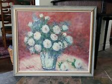 Large 34 x 29 rare floral Cherry Jeffe Huldah signed Original Oil Painting