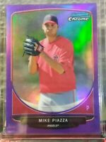 MIKE PIAZZA ANGELS 2013 BOWMAN CHROME ROOKIE PURPLE REFRACTOR SSP 015/199 HOT!!!