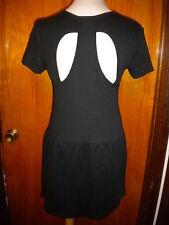 Victoria's Secret Black Fleece Angel Wings Cut Out Back Dress w/Pockets S/P New