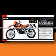 ★ KTM 400 LC4-E ★ 2000 Article Fiche Présentation Moto #c1259
