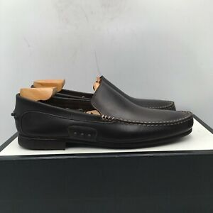 Brooks Brothers Brown Leather Loafer Casual Dress Shoes Slip On Men's Size 9.5