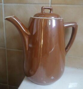 S.P.M. WALKÜRE BAYREUTH Bav. Keramik FAMILIEN KAFFEEKANNE 2 Liter braun lasiert