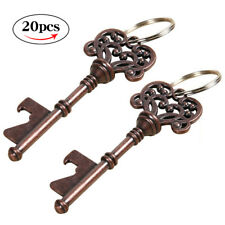 20X Antique Skeleton Key Bottle Beer Opener Keyring Copper Vintage Wedding Favor