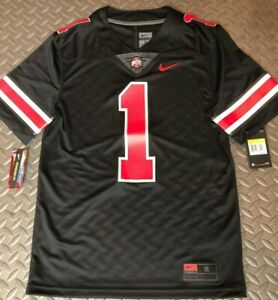 Limited OHIO STATE BUCKEYES Nike ICON Black OUT #1 NCAA Football Jersey Fields S