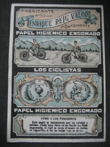 Paper Smoking The Ciclistas. Harry Reig Valor. Onteniente
