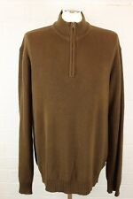 TIMBERLAND Mens Long Sleeve Brown Zip Neck Jumper - Size XL - Extra Large