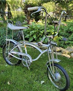 Schwinn stingray 'COTTON PICKER ' 71 slik springer drum brake krate muscle bike