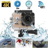 Action Camera 4K WIFI Remote 1080P 16MP 30m Waterproof Sport DV Cam for GOPRO