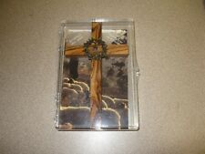 national shrine cross with pewter crown bethlehem olive wood made in west bank