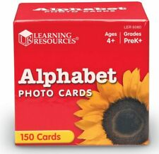 New ALPHABET Illustrated PHOTO CARD SET By LEARNING RESOURCES Educational Age 4+