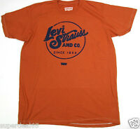 Levi's T Shirt Levis Strauss & Co Since 1853 Circle Rust 100% Cotton