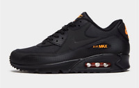 """Men's Nike Air Max 90 """"Black-Orange"""" Trainers Limited Stock Shoes All Sizes NEW"""