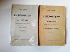 La révolution et la Vendée T1+T2 Gabory Librairie académique Perrin & cie