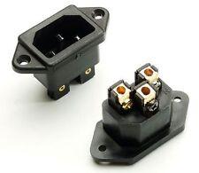 NEXUS MUSIC Gold Plated IEC Socket Inlet Solder Free Design 2PCS