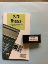 Psion II PURE FINANCE PACK software on a 16k datapack.