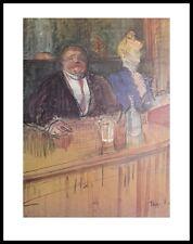 Henri Toulouse-Lautrec Bar Poster Kunstdruck mit Alu Rahmen in schwarz 71x56cm