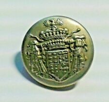 Antique Silver and bronzeJacket  button with Coat of Arms Counts of Villalva