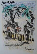 Georges LAPORTE (1926-2000) Technique mixte/papier Dakar P1780