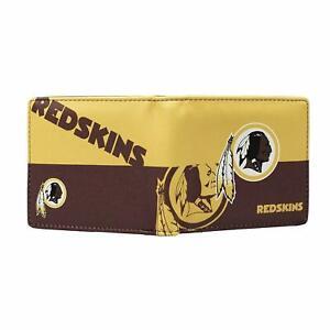NFL Washington Redskins Men's Printed Logo Leather Bi-Fold Wallet