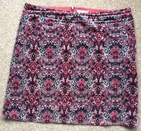White Stuff Cotton Blend Soft Velvet Touch Skirt Size UK 14 EU 44 Beautiful
