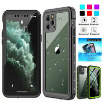 For iPhone 11 Pro XS Max XR X 6s 7 8+ Waterproof Case Cover w/ Screen Protector