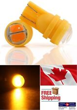 2x 4W 5630 SMD Amber Yellow LED Projector T10 194 168 Turn Park Signal Bulb Car