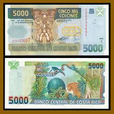 Costa Rica 5000 (5,000) Colones, 2004 P-268Aa Serie C Printer FC-O Unc
