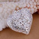 Fashion 925 Jewelry Sterling Silver Flower Heart Pendant for Women Girl Gift