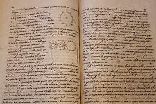 1759 vecchio manoscritto scientifico in italiano Principi di Meccanica scienza