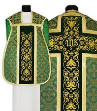 Green Roman Chasuble Set R518-AZ50 Verte Casulla Romana Verde Casula Grün Kasel