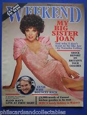 Weekend Magazine - Natasha Collins, Ernie Wise, Cyndi Lauper 16th Oct.1985