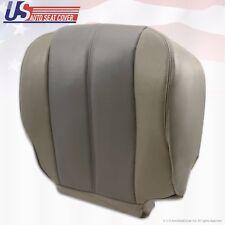 2001 2002 GMC Yukon Denali Passenger Side Bottom Leather Seat Cover 2-Tone GRAY