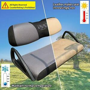 Golf Cart Seat Cover Set for Club Car DS Precedent Yamaha Part Gray Black L size
