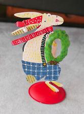Silvestri metal Christmas card holder Nancy Wolff Newsies, rabbit New w/o tag