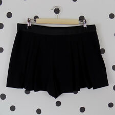 f946b016 Zara Trafaluc Box Pleated Dress Shorts Large Black Side Zip