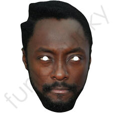 Will I Am, William, Black Eyed Peas, Celebrity Card Mask, All Masks Are Pre-Cut