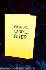 WINNING CANDLE RITES. Finbarr Book. Magick Occult Witchcraft Grimoire.