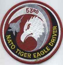 AIR FORCE PATCH COLLECTIONS: NATO Tiger Eagle F-15 Driver 53rd TFS (Disbanded)