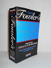 The New Fowler's Modern English Usage H. W. Fowler Robert W. Burchfield 1996 PBK