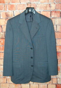 Mint 40 R Custom Ermenegildo Zegna Trofeo Cloud Blue Pin Dot Suit Pleat 34x30
