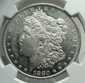 1880 UNITED STATES of America SILVER Morgan US Dollar Coin EAGLE NGC  i79700