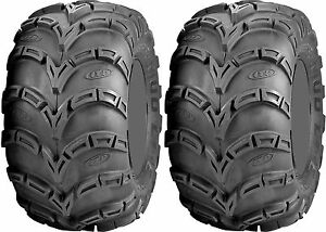 Pair 2 ITP Mud Lite AT 25x12-9 ATV Tire Set 25x12x9 MudLite 25-12-9