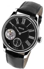 Epos Swiss Men's Watch Black Leather Automatic Wrist Watch 3369