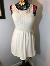 Mossimo Supply Co Size M Sleeveless Ivory Casual Wear Dress