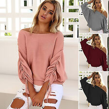 Off-Shoulder Thin Knit Sweaters for Women | eBay