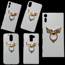 Bling Deluxe Colorful Diamond Angel Wings Ring Holder Stand Skin Case For Phones